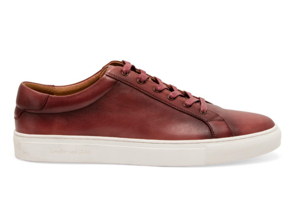 SHERMAN BURGUNDY SNEAKERS